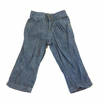 Monsoon Blue Denim Jeans Trousers 3-6 Months Baby Girls