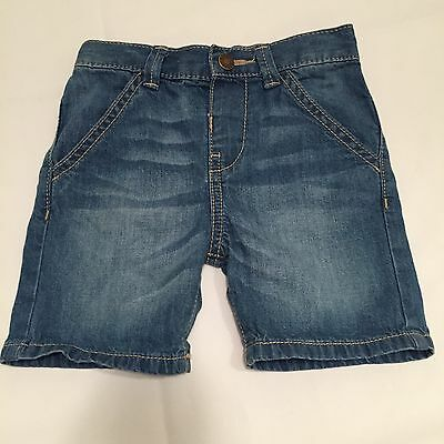 Florence & Fred Blue Denim Shorts Baby Girls 12-18 Months
