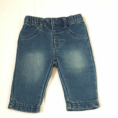 Mothercare Blue Denim Jeans Trousers Baby Girls 0-3 Months