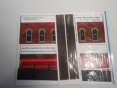 """'O' Scale cardstock """"Storefronts without signs"""" Gary Johnson item #06 kit"""