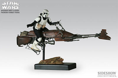 Sideshow – Speeder Bike And Scout Trooper – 1/4 Scale Premium Format Figure