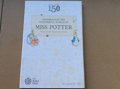 BEATRIX POTTER 50p Folder includes Peter Rabbit Tiggy Winkle & Jemima Puddle Unc