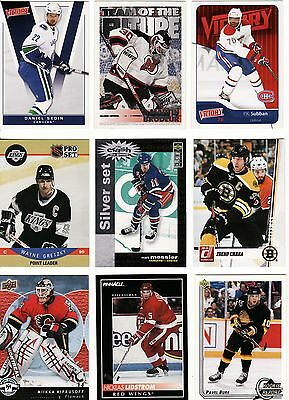 50 X Different Nhl Cards, Random Lot, Includes Auto'd/signed Card, Great Lot.