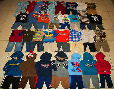 Baby Boys Clothes/Outfits/Sleepers Lot of 58 Size 12/12-18 Months winter