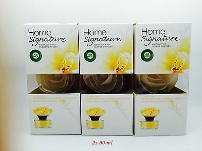 x3 Air Wick Flower Fragrance Diffuser Home signature Vanilla Bean  White Truffle