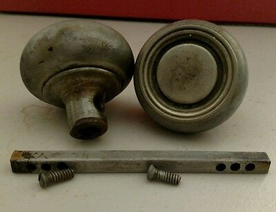 Antique vtg door knobs unique design clean set pair