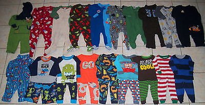 Baby Boys Pajamas/Sleepers Lot of 28 Size 12/12-18 Months winter