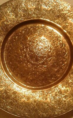 Antique Brass Plate Islamic / Middle Eastern Art Animals Collectible ~ Gift
