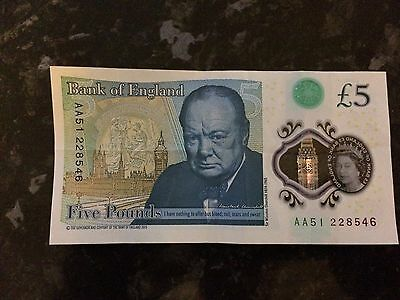 AA51 serial number five pound note