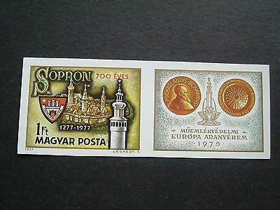 Hungary 1977.  Mi-3206B.  Single issue stamp with label.  Imperforated.  MNH.