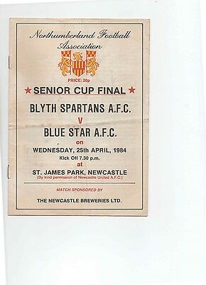 83/84 Blyth Spartans V Blue Star (Northumberland Cup Final)(Newcastle)