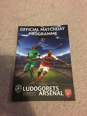 Ludogorets v Arsenal 1.11.16 Official match day Programme Champions League