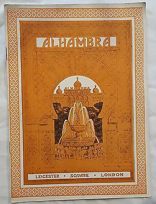 Vintage ALHAMBRA Leicester Square London Sept 6, 1926 VARIETY  Theatre Programme