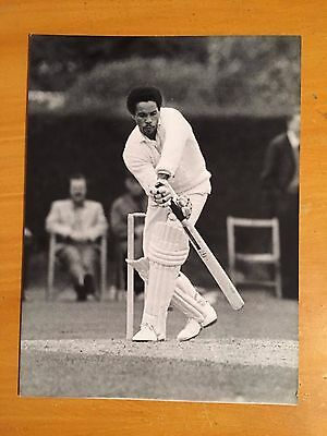 1970s Keith Boyce batting for Essex a Colorsport Press Photograph vgc
