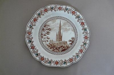 """Original Lner Cathedral Plate C1930S By Wedgewood      """"norwich"""""""