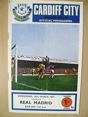 1971 European Cup - CARDIFF CITY v REAL MADRID