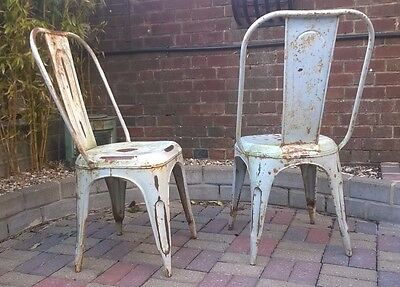 Vintage Industrial Style Metal Bistro Chairs Tolix