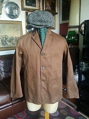 Welsh Histon Abbey Mill French Workwear Sanforized Baumwolle Jacket.Medium vgc