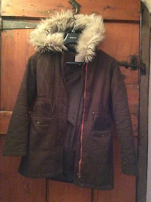 Marks and Spencer Girl's Brown Parka Coat Age 11-12 Years