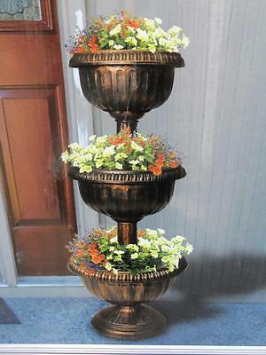 3 Tier Flower Planter Pot Patio Yard Decor Plant Holder Stand