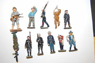 Job Lot Of Vintage Britains & Other Makers Lead Soldiers