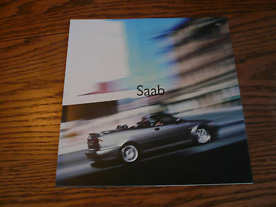 2002 SAAB Sales Brochure Request Booklet with Post Card