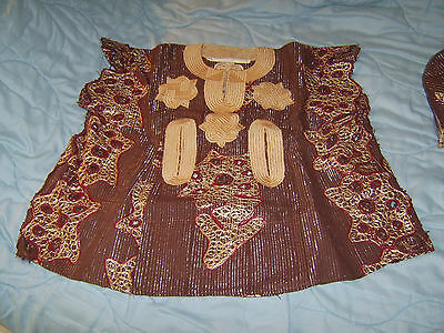 African costume boys' tunic, trousers, hat - from Nigeria 1990s almost vintage