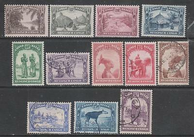 BELG. CONGO - 1931+  Pictorial Definitives - Part Set of 12, Mint & used