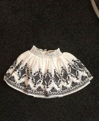 girls white and blue skirt- size 5 years- excellent condition!