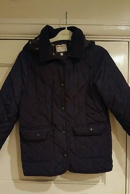 Girls Jacket/coat From indigo By M&S Age 7-8 Years