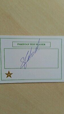 Sarfraz Ahmed  signed Pakistan Test Player Card Cap No: 198