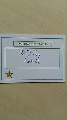 Rahat Ali signed Pakistan Test Player Card Cap No: 211