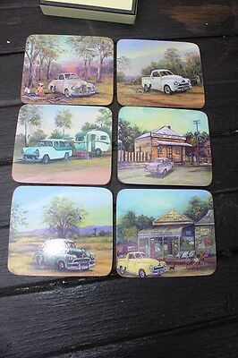 Set Of 6 Drink Coasters   Old Holdens