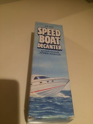 Avon Speed Boat After Shave Decanter