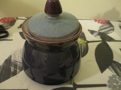Beautiful Denby Storm  Purple Sugar Bowl With Grey Lid,   Hardly Used, Vgc