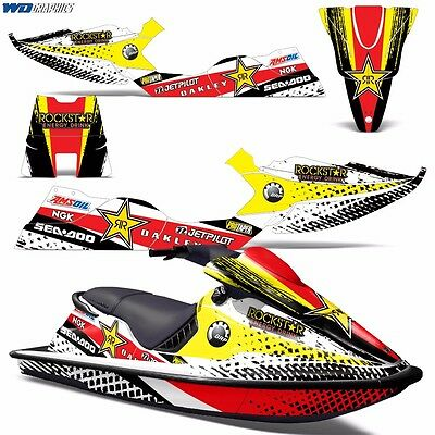 Decal Graphic Kit Sea-Doo XP Jet Ski Wrap Jetski Decal Parts Seadoo Deco 94-96 r