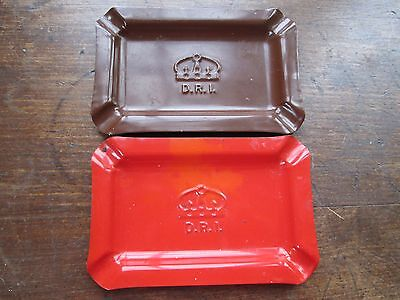 WWII D.R.I. Ashtrays (Lot of 2)