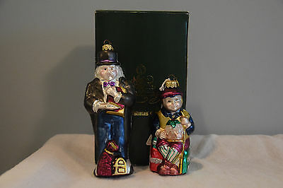 Dept 56 Christmas Ornaments Scrooge and Tiny Tim