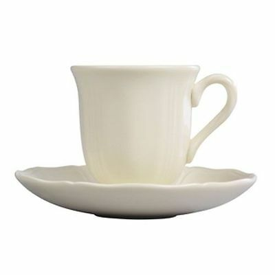 Wedgwood Queen's Plain Coffee Cup and Saucer Set - RRP $240.00