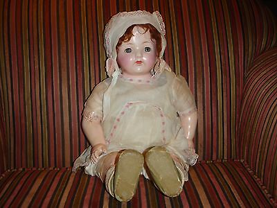 """Antique 24"""" OLD Effanbee Composition Mama Doll All Original"""