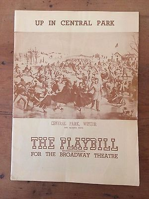 """THE BROADWAY THEATRE. 1946 playbill: """"Up In Central Park."""""""