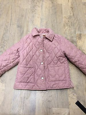 Girls Pink Quilted Coat Aged 4-5