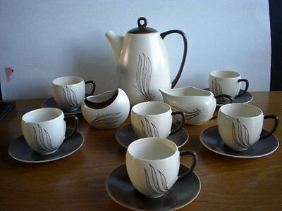 A CARLTONWARE Coffee Set in the Lovely WINDSWEPT Pattern.