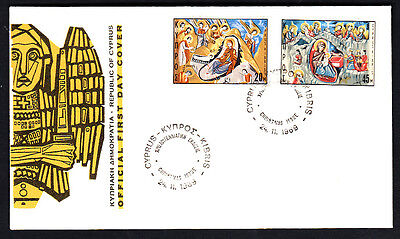 Cyprus 1969 Christmas  First Day Cover