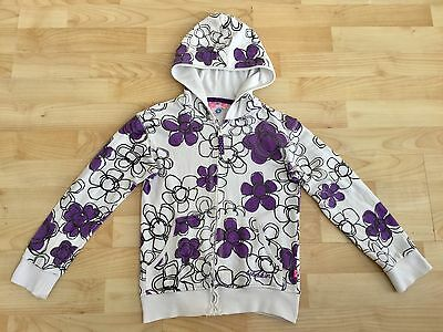 Girls Hooded Top Jumper Size Age 7-8 Years Babeskin Zip Up Top