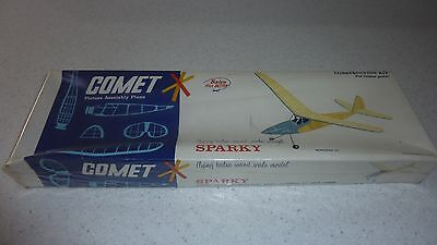 "Rare BNIB COMET Sparky freeflight duration Model Aircraft Kit 32"" span"