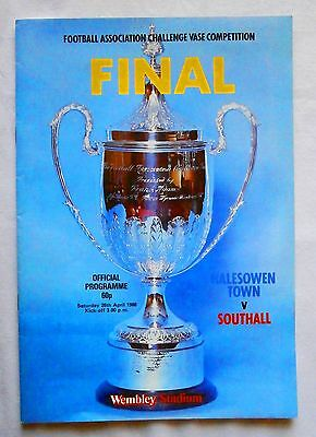 Football Association Challenge Vase. Wembley Final 1986. Official Programme