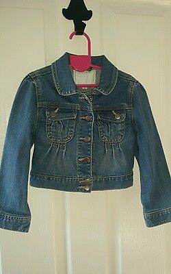 New Girls vertbaudet denim jacket size 4yrs