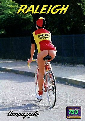 Ti Raleigh Girl A4 poster Campagnolo C Record Bianchi Cinelli