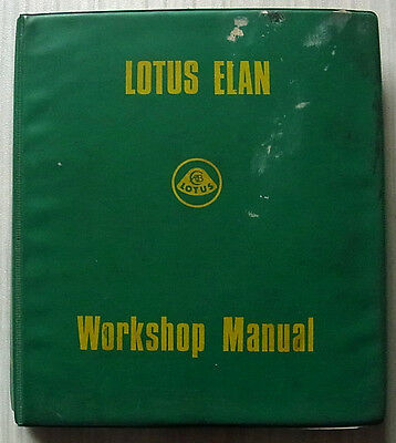 LOTUS ELAN Car Workshop Manual c1971?  #36T327
